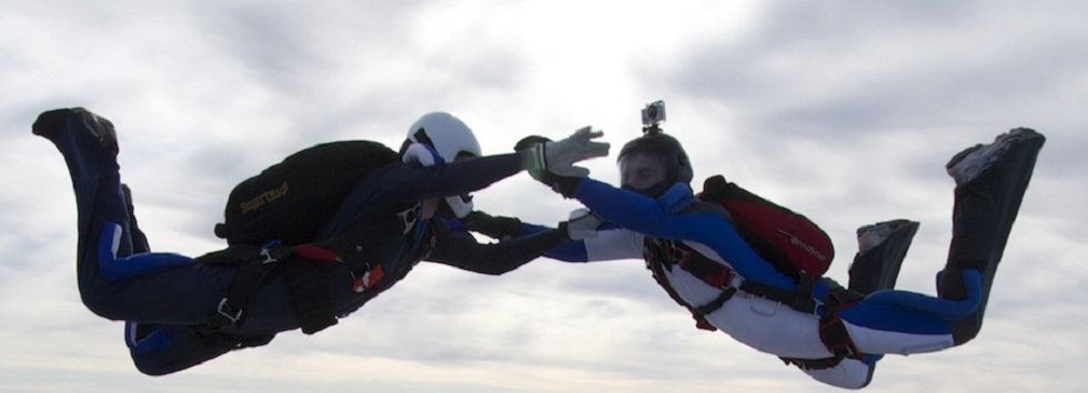 A Two-Way / 2-Way formation from Bristol University Skydiving Club